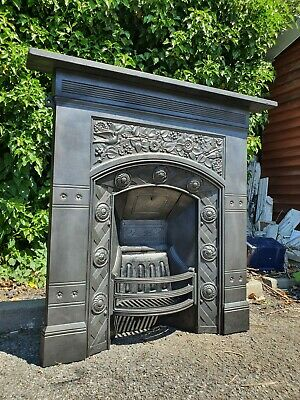 Antique Victorian Cast Iron Thomas Jeckyll Fireplace Old Living Room Size