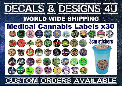 Cali Stickers 13 And 19 Dram Pop Top Cali Jars Pots Self Seal Medical Cannabis