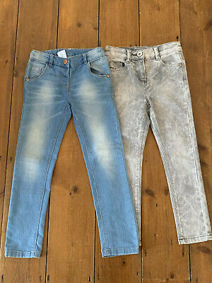 Girls NEXT Age 5 Years Jeans Skinny Fit x 2 Blue Grey