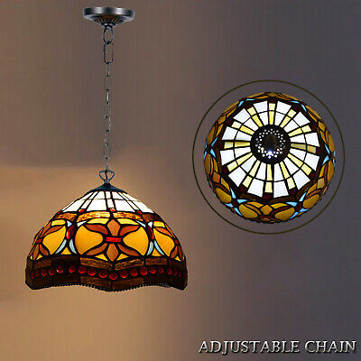 Antique Design TIFFANY Style Hand Crafted Pendent Lamp Multi Color Home Decor