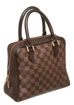Louis Vuitton Damier Ebene Canvas Leather Triana Bag