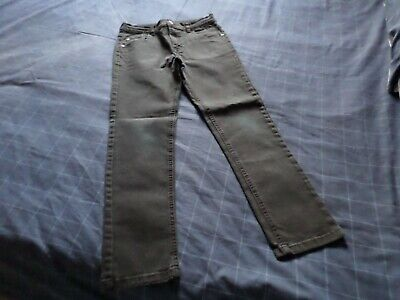 Pair Boys Black Jeans 11-12 Yrs Very Good Condition