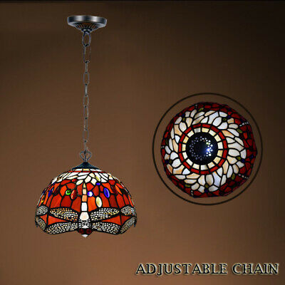 Antique Design TIFFANY Multi Color Style Hand Crafted Pendent Lamp Home Decor