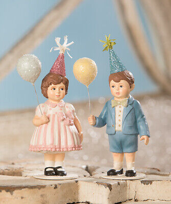 Bethany Lowe Easter Spring Party Time Boy & Girl Set/2 New 2020 TD9008 Birthday