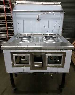 2 Hole 2 Burner Chinese Wok Range NSF & CSA NEW IN-STOCK Contact Us For Details!