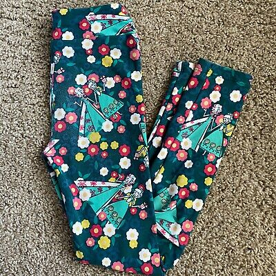LuLaRoe Kids Disney Frozen Leggings - L/XL - Anna Elsa