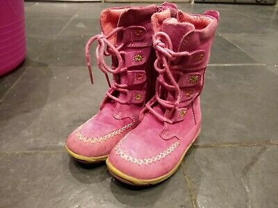Hush Puppies Pink Kids Toddlers Infants Winter Suede Boots 6