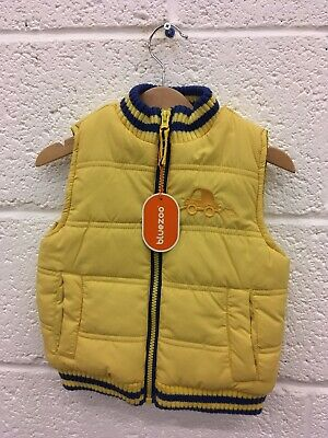 Blue Zoo Boys Gillet Size 2-3 Years: Yellow/navy