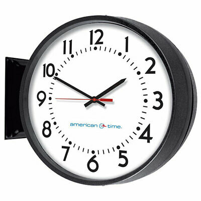"""American Time 12""""  Wireless Double Sided Wall Mount Battery Analog Clock"""