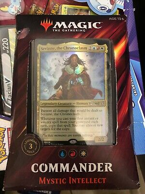 2019 Commander Deck Mystic Intellect New Sealed MTG Magic The Gathering Deck Box