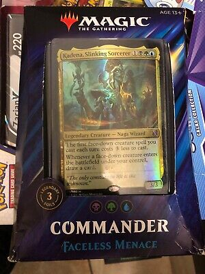 2019 Commander Deck Faceless Menace New Sealed MTG Magic The Gathering Deck Box