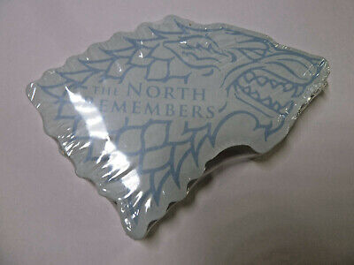 Game of Thrones House Stark dire wolf sigil shaped notepad blue 2019 NEW!
