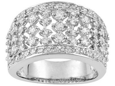 R Wedding //Engagement Set Ring W//7.43ctw CZ in 925 Sterling silver Bella Luce