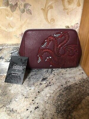 New Danielle Nicole Game Of Thrones House Targaryen Red Cosmetic Bag