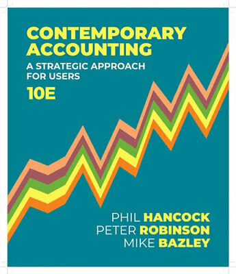 NEW Contemporary Accounting 10ed By Phil Hancock Paperback Free Shipping