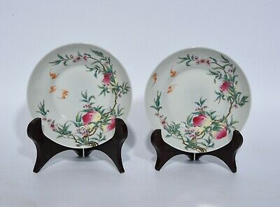 Chinese Exquisite Handmade porcelain plate A pair