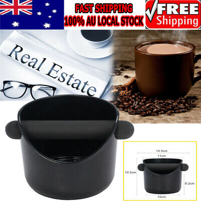 2019 Coffee Knock Box Espresso Grinds Waste Container Tamper Bin Black