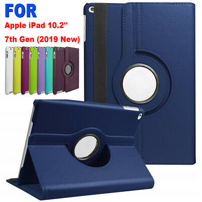 """360 Rotating Smart Case Leather Stand Cover For Apple iPad 7th Gen 10.2"""" 2019---"""