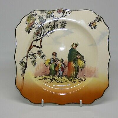 Royal Doulton Seriesware Old English Scenes The Gleaners square plate D6123