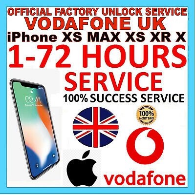 EXPRESS FAST UNLOCK SERVICE FOR iPhone XS Max XS XR X  Vodafone UK
