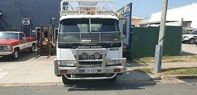 2005 Nissan UD LK245 Flatbed Tipper Truck With Cattle Crate