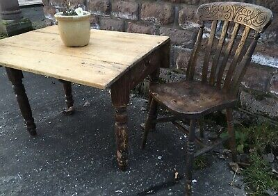 Country Cottage Rustic Character Timeworn  Shabby Chic Kitchen Dining Table