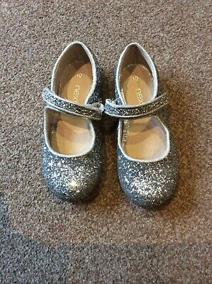 Girls Silver Glittery Party Shoes From Next Size 10