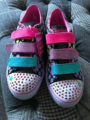New Girls Twinkle Toes Limited Edition Skechers Size 3