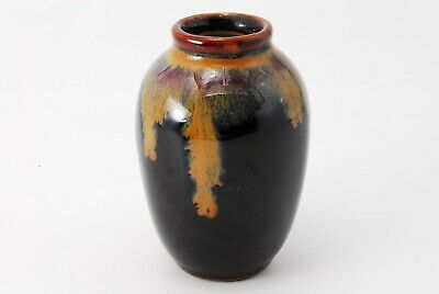 Japanese Kiyomizu-ware Seto glaze TEA CADDY Chaire Container /379