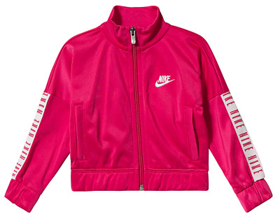 Nike Logo Tape Tracksuit Jacket Rush Pink Girls Juniors 4-5yrs *REF156