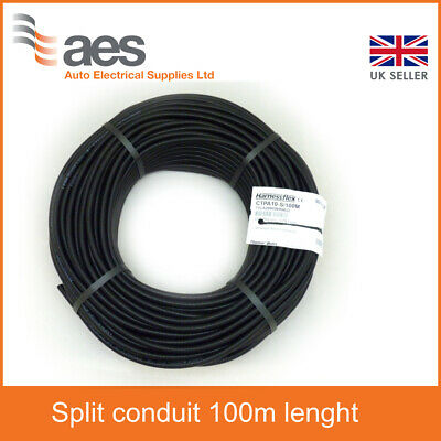 CTPA Flexible Black Conduit Size 12 Split - 100m Lenght