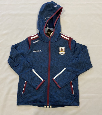 Oneills Gaillimh Hooded Tracksuit Jacket Navy Girls Size UK 9-10 Years *REF157