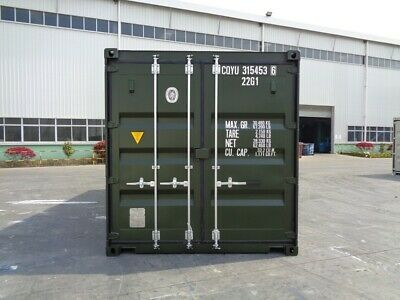 SHIPPING CONTAINERS 20FT GREEN 6007 BIRMINGHAM £1895+vat EASY -OPENERS