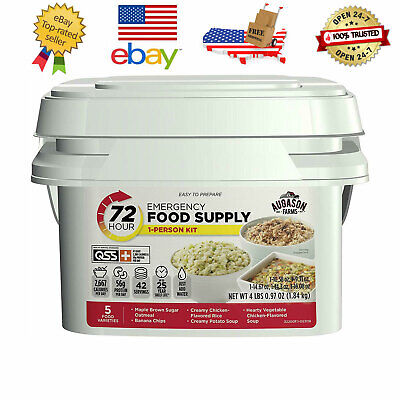 Augason Farms 72-Hour 42 servings 1-Person Emergency Food Supply Kit 4 lbs 1 oz