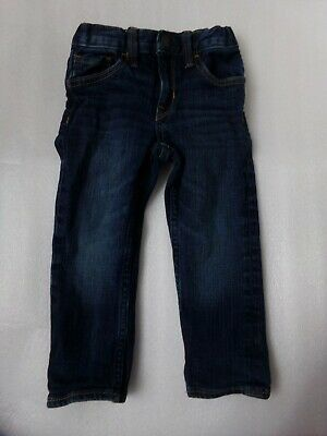 Boys Baby Gap Very Dark Wash Adjustable Waist Skinny Fit Jeans Size 18-24M