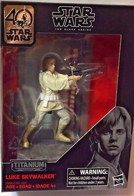 2017 Star Wars 40Th Anniversary Titanium Series Luke Skywalker Action Figure