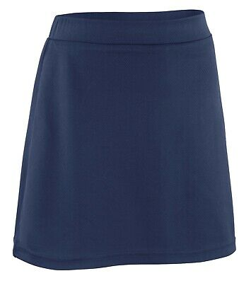 Girls Junior Skort 2in1 Built-In Shorts With Skirt Plain School PE Games Sports