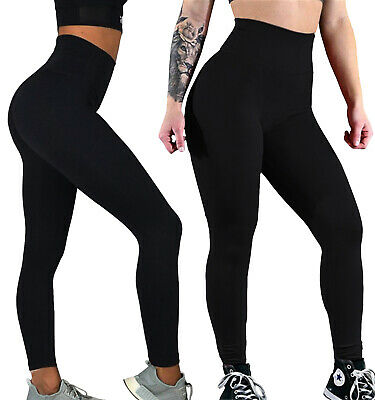 Ladies High Waist Leggings Tummy Control Stretch Sports Fitness Gym Trousers