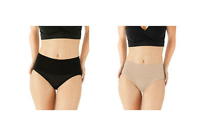 Motherhood Maternity Under Wrapz C-Section Recovery Nude  Black Panty L XL New!
