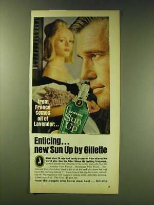 1964 Gillette Sun Up After Shave Ad - From France comes oil of Lavender