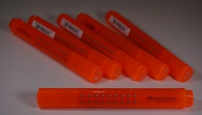 Faber Castell Highlighter Grip Chisel Tip 154315 Orange Highlighter Pack of 6