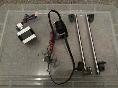 Stepper Motor plus Linear Axis plus linear bearings and limit switch