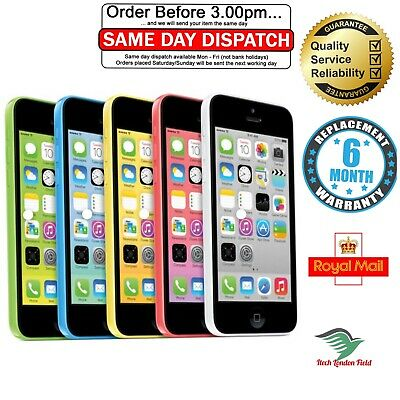 APPLE iPHONE 5C 8GB/16GB/32GB - UNLOCKED VARIOUS COLOR+ 12 MOTHS WARRANTY