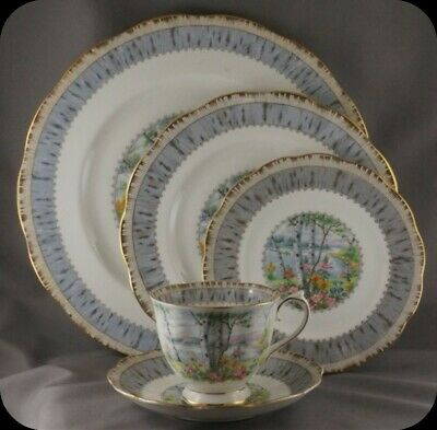 Royal Albert Silver Birch 5 Piece Place Setting (Two sets Available)