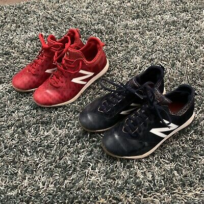 New Balance Youth Baseball Cleats Mid Red & Navy Size 4y