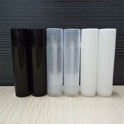 10PCS Empty Lip Tubes Balm Containers Clear/White/Black Lipstick Tool #H5