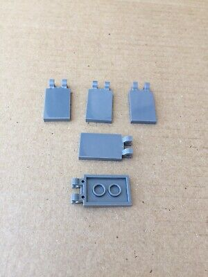 4x Lego ® 30350 Plate Tile Flag Tile 2x3 with 2 CLIPS BLACK NEW