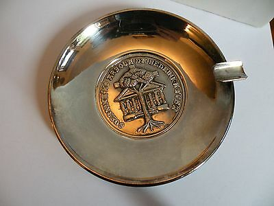 sbx  PLATA SILVERPLATE ASHTRAY Spain GUERNICA TREE OF LIFE