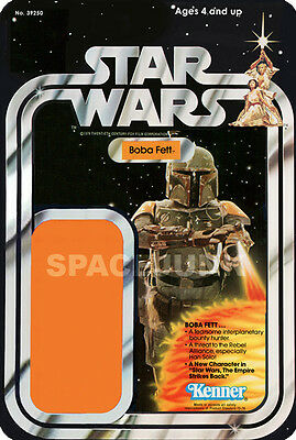 STAR WARS Boba Fett (1977) Reproduction Kenner Cardback