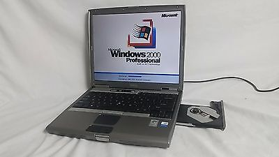 Vintage Dell Latitude D600 Laptop Windows 2000 operating system serial port USB